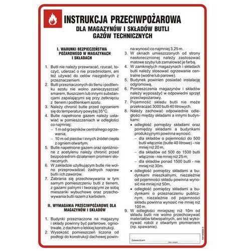 Instrukcja przeciwpożarowa dla magazynów i składów butli gazów technicznych. Najniższe ceny, najlepsze promocje w sklepach, opinie.