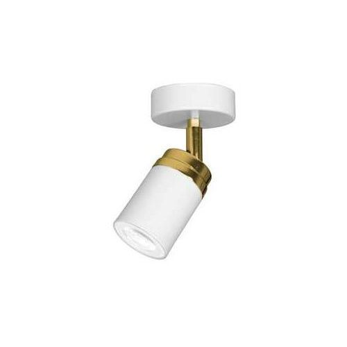 Luminex reno 5154 kinkiet lampa sufitowa spot 1x8w gu10 biały złoty (5907565951547)