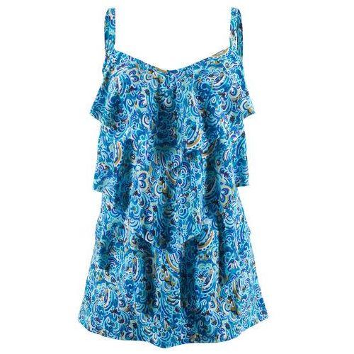 Sukienka kąpielowa bonprix niebieski z nadrukiem, kolor niebieski