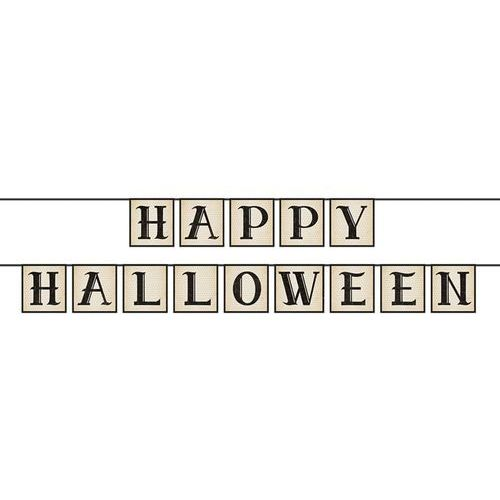 Party deco Baner happy halloween 14cm x 210cm