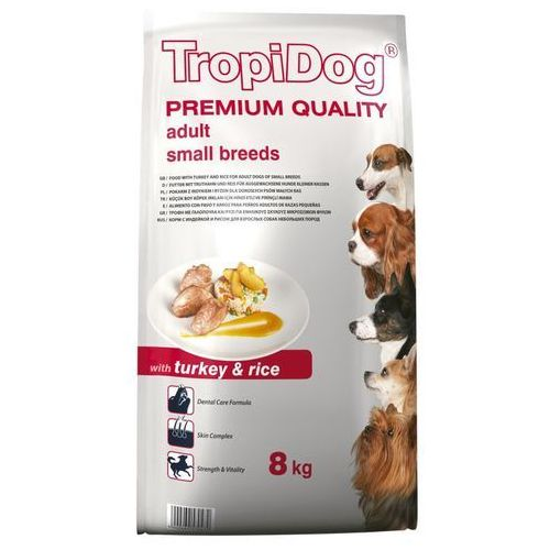 TROPIDOG PREMIUM ADULT SMALL TURKEY&RICE 8 KG