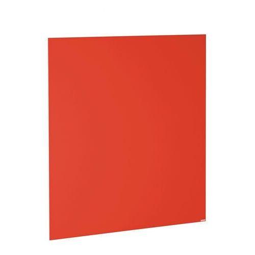 Szklana tablica suchościeralna, 1000x1000 mm, jaskrawy czerwony marki Aj produkty