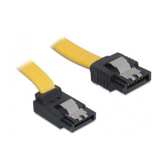 Delock Kabel SATA II 3Gb/s 30cm kątowy góra/prosto (metalowe zatrzaski) żółty DARMOWA DOSTAWA DO 400 SALONÓW !! - sprawdź w wybranym sklepie