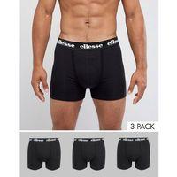 Ellesse 3 pack trunk in black - black