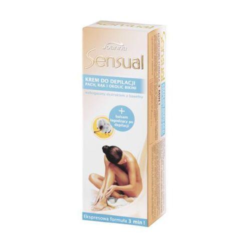 Krem do depilacji pach rąk i okolic bikini Joanna Sensual 100 g + Balsam łagodzący po depilacji 10 g, 528034