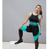 plus exclusive to asos panelled legging in black and green - green, Puma
