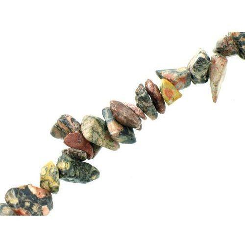 Kamień Jubilerski Jaspis Leopardzi Sieczka Drobna 3~7mm 20szt