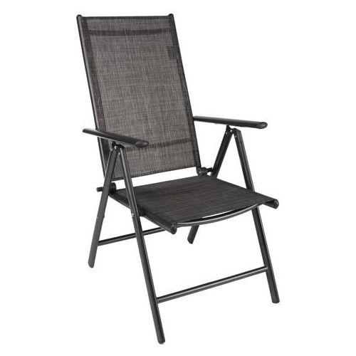 HI Rozkładane krzesło ogrodowe z aluminium, szare (4034127641187)