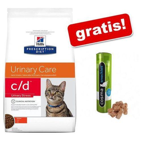 5/8 kg Hills Prescription Diet Feline + Cosma Original Snackies, kaczka gratis! - c/d Urinary Stress, 8 kg  Darmowa Dostawa od 89 zł i Super Promocje od zooplus!  -5% Rabat dla nowych klientów