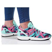 adidas Originals ZX FLUX Tenisówki i Trampki energy aqua/footwear white, kolor zielony