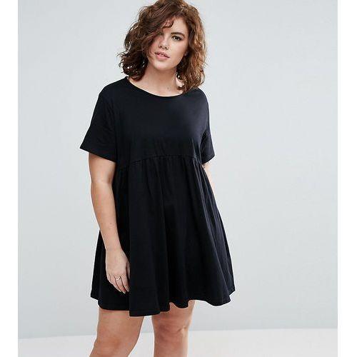 ultimate smock dress - black, Asos curve