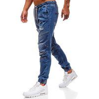 Otantik Spodnie jeansowe joggery męskie granatowe denley 2049