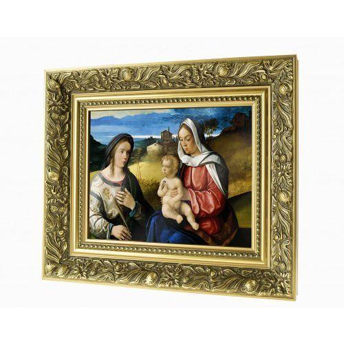 Obraz ceramiczny Maryja z Jezusem i św. Agnieszką