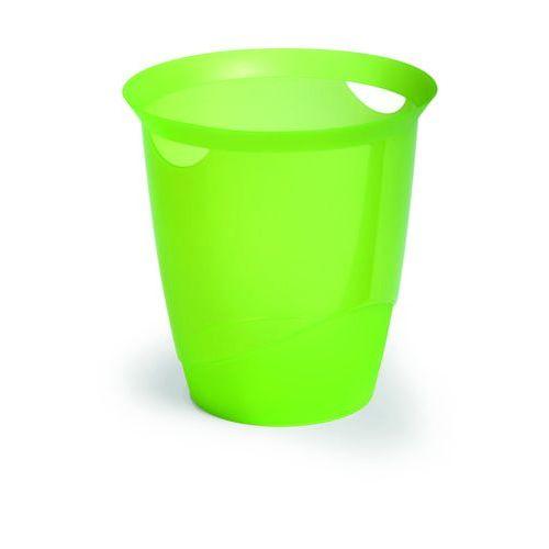 Durable Kosz na śmieci trend przezroczysty zielony (16 l.)