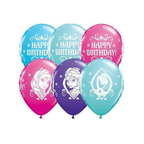 Balony urodzinowe Frozen - Kraina Lodu Happy Birthday - 30 cm - 5 szt