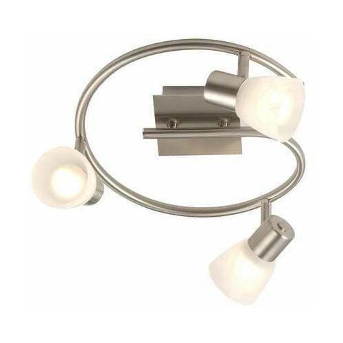 Globo Listwa spirala lampa oprawa sufitowa parry 3x40w e14 satyna 54530-3