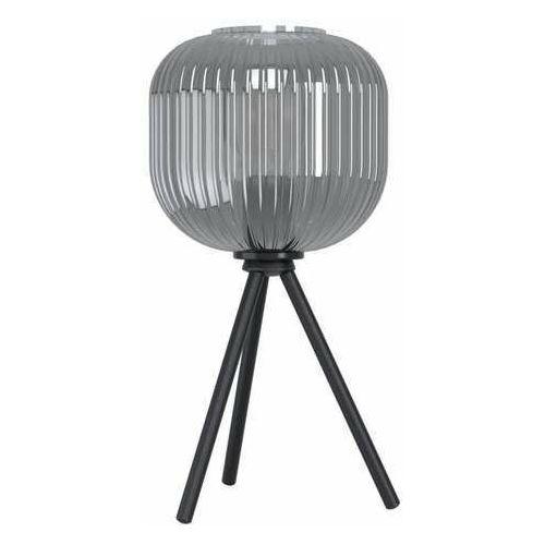 Eglo mantunalle 1 99374 lampa stołowa lampka 1x40w e27 czarna/czarna-transparentna