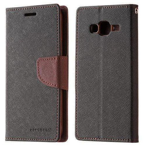 Mercury Etui goospery kabura fancy series iphone 8 / 7 czarno brązowe (8806174347932)