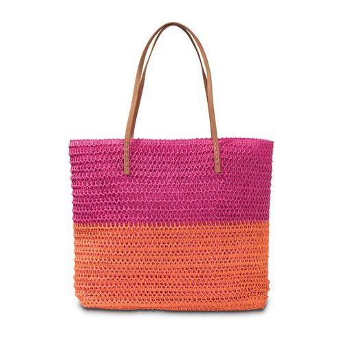 Torba plażowa pomarańczowo-różowy marki Bonprix