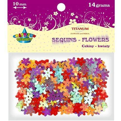 Cekiny kwiatki,10mm MIX kolorów, 14 g, CRAFT-FUN - różnokolorowy (5907437647592)