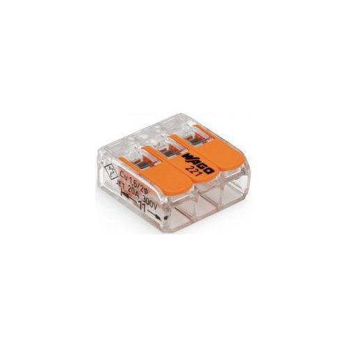 Złącze zaciskowe Ilość PIN: 3 WAGO 221-413/996-012 12 szt. przezroczysty, pomarańczowy