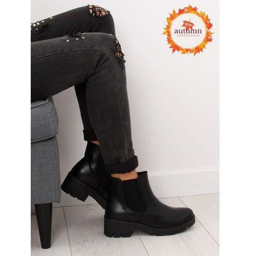 Botki damskie sztyblety czarne 9996-3 black 37 marki Obuwie damskie