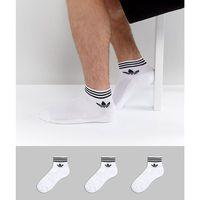 adidas Originals 3 pack ankle socks in white az6288 - White