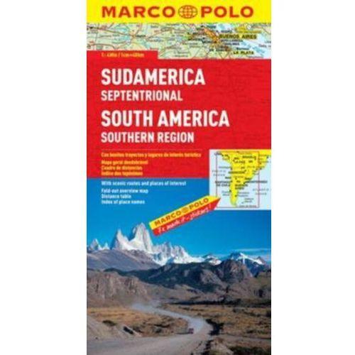 Ameryka Południowa, część południowa 1:4 000 000. Mapa samochodowa, składana. Marco Polo, oprawa broszurowa