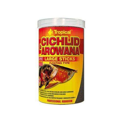 TROPICAL Cichlid & Arowana Large Sticks - pokarm dla pielęgnic i arowan 250ml/75g