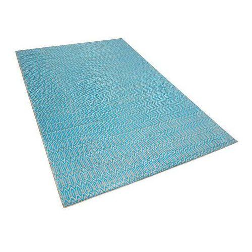 Dywan niebiesko-beżowy - 160x230 cm - bawełna - juta - SILOPI (7105279278440)