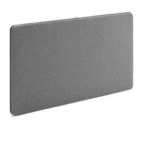Ścienny panel dźwiękochłonny zip, 1200x650 mm, szary, czarny suwak marki Aj produkty