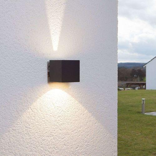 Nowoczesna lampa zewnętrzna kostka czarna w tym led - jarno marki Lindby