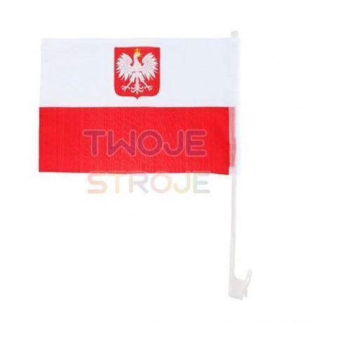 Samochodowa flaga polski 32x42 cm marki Twojestroje.pl