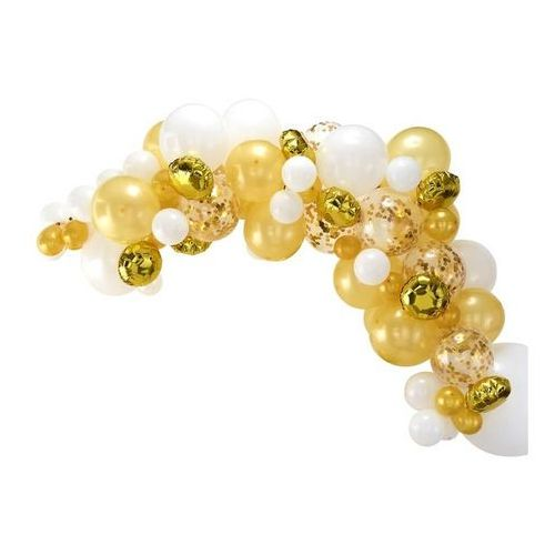 Zestaw balonów do girlandy balonowej złoto-biały - 1 komplet marki Ginger ray