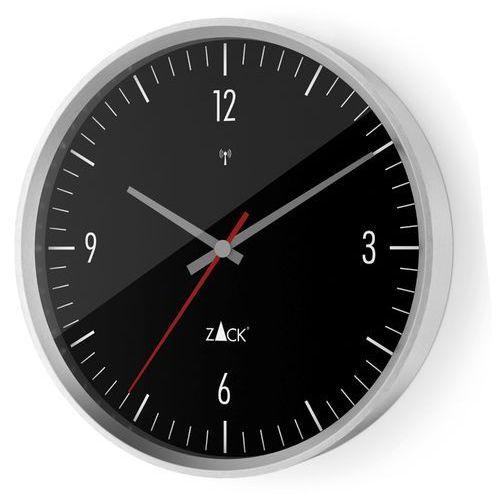 Zegar Zack Vida sterowany radiowo 30 cm czarny, kolor czarny