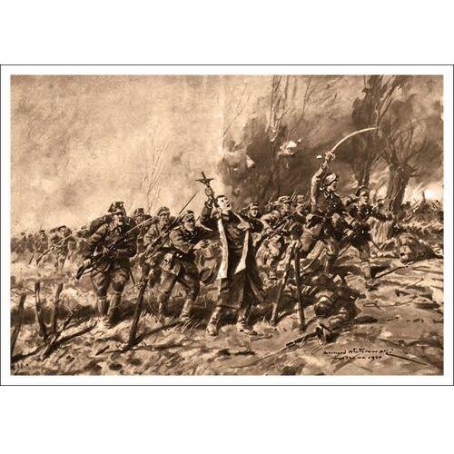 Plakat A3 - Bohaterska śmierć ks. Ignacego Skorupki - Leonard Wintorowski A3-GPlak1920-026