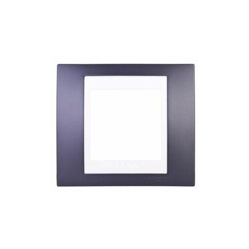 Unica Plus Ramka pojedyncza czarny pozioma MGU6.002.877 SCHNEIDER ELECTRIC, kolor czarny