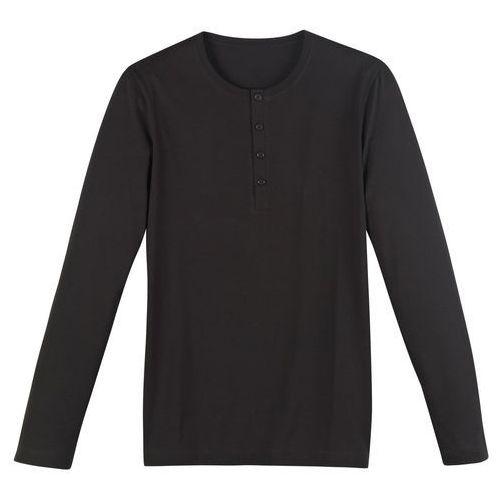 R édition T-shirt, dekolt z rozcięciem i guzikami, długi rękaw
