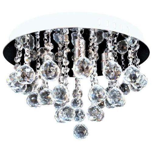 Plafon LAMPA sufitowa VEN P-E 1437/4-40 okrągła OPRAWA z kryształkami glamour crystal chrom przezroczysta almonte (5902335917945)