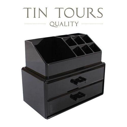 Tin tours sp.z o.o. Czarna szkatułka/ organizer na kosmetyki lub biżuterię