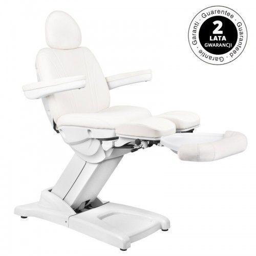 Fotel kosmetyczny elektr. azzurro 872s pedi-pro 3 siln. biały marki Activeshop