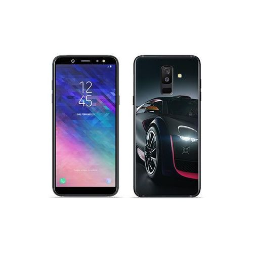 Samsung Galaxy A6 Plus (2018) - etui na telefon Foto Case - black car