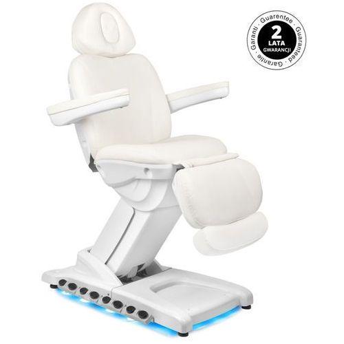 Fotel kosmetyczny elektr. azzurro 872 exclusive 4 siln. biały podgrzewany marki Activ