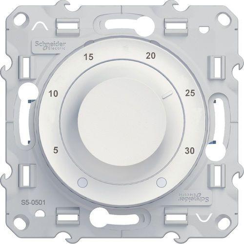 Termostat elektroniczny obrotowy Schneider Odace S520501 biały