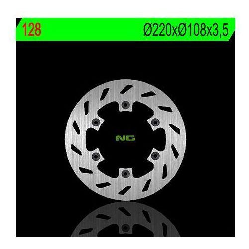 Ng 128 tarcza hamulcowa beta 125/200/250 alp '00-'03 (220x108x3,5) (6x6,5mm)