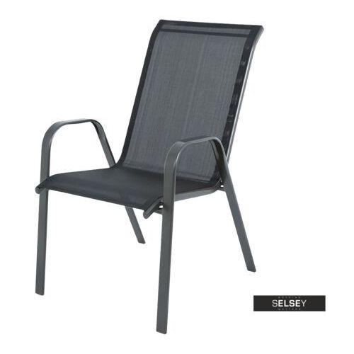 krzesło ogrodowe passol czarne marki Selsey