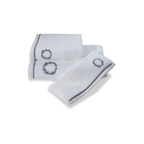 Podarunkowy zestaw ręczników sehzade, 2 szt biały / srebrny haft marki Soft cotton