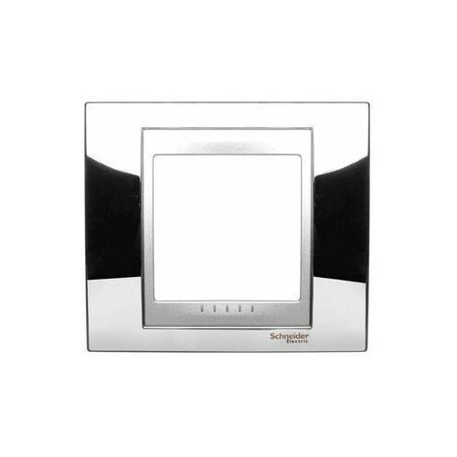 Schneider electric Unica ramka pojedyncza metal poziomy i pionowy chrom mgu66.002.010 (8420375115765)