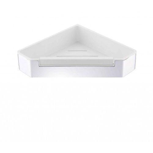 koszyk narożny z wycieraczką, wkład z tworzywa biały 16.070 chrom marki Stella