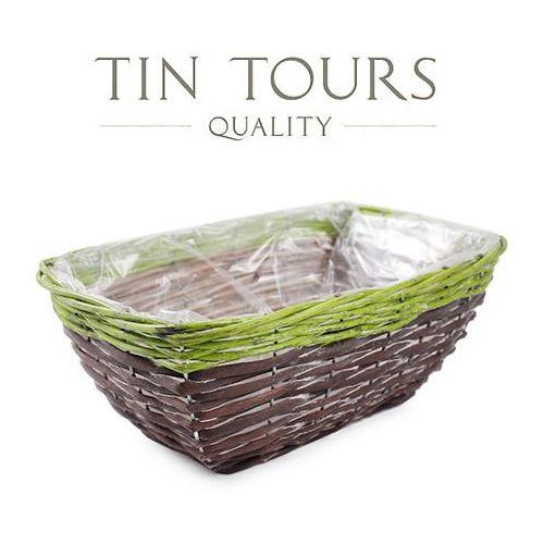Prostokątny koszyk do obsadzania kwiatami 29x20x12 cm marki Tin tours sp.z o.o.